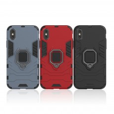 Black Panther Phone Case with Ring on Back, iPhone XS MAX Anti-fall Phone Shell