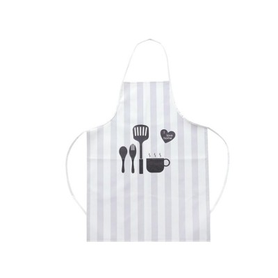 Waterproof Kitchen Apron, Greaseproof Contracted Printing PU Apron