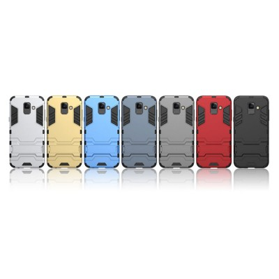 Iron Man Phone Case for Samsung A6, A6 Plus 2018, Armor Phone Protective Shell With Contact Support