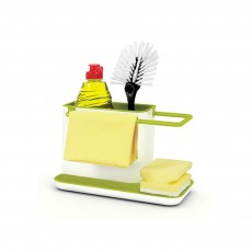 Sink Storage Rack for Sponge Pan Brush Storage, Kitchen Rack with Filter Hole & Anti-skid Bottom