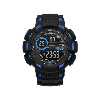 Men's Waterproof Sport Watch, Shockproof Digital Watch with Stainless Steel for Outdoor Use