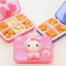 Cute Cartoon Pill Cases Series Small Pill Box Travel Vitamin Organizer