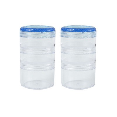 Clear Stacking Pill Organizer, Multifunctional Food Protein Powder Drug Bottle Box