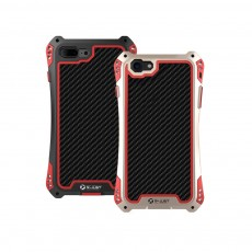 Zinc Alloy Phone Case Cover with Cushioning Soft Layer, Carbon Fiber and Tempered Glass for Different iPhone Type