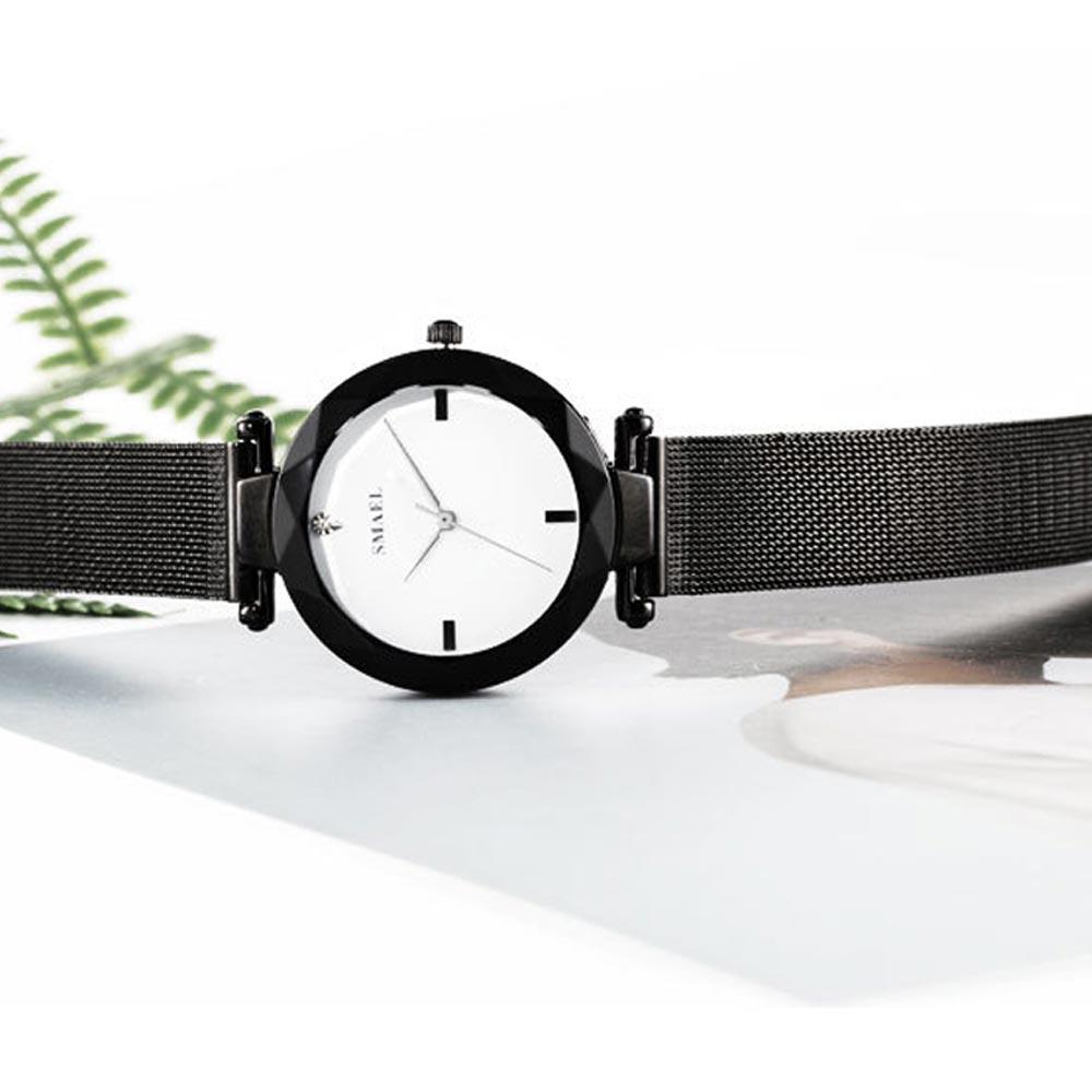 Women's New Fashionable Quartz Watch, Korean Style Metal Strap Watch