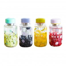 Fruit Juice Glass Bottles, Glass Bottle with Tea Partition