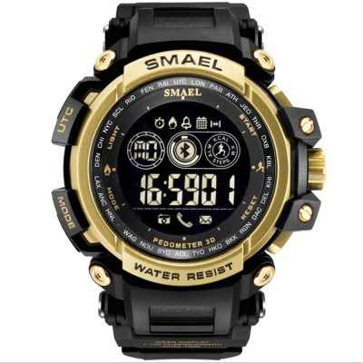 Water-poof Smart Bracelet with Resin Strap, Multifunctional Electronic Watch Supporting Sports Step with IOS/Android Bluetooth