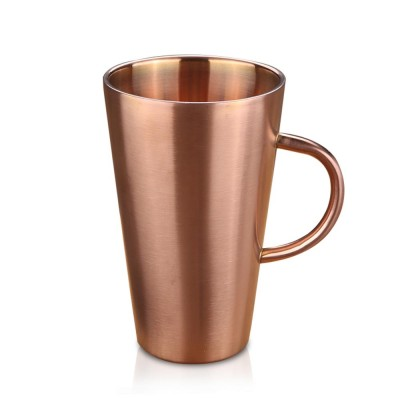 European Style Stainless Steel Mug with Double heat Insulation, Stylish Cup for Beer, Coffee, Milk, Cold Juice