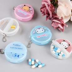 Cartoon Pill Box for Girls Cute Vitamin Storage Supplement Case