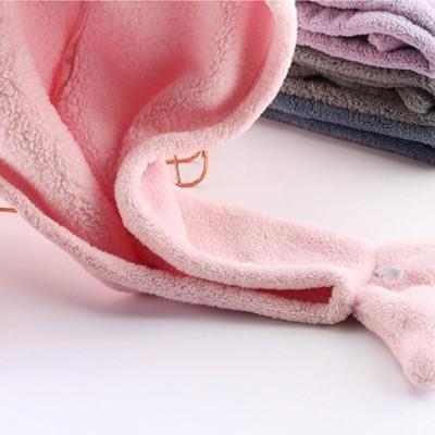 Cute Cartoon Pattern Hair Towel Cap, Ultra Absorbent Coral Velvet Hair Dry Towel  for Girls, Women, Kids