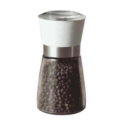 Manual Pepper Grinder, Glass Pepper Mill Seasoning Bottle with Ceramic Grinding Core