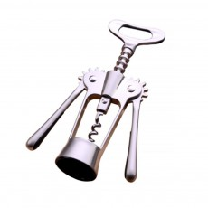 Stainless Steel Wine Opener, Handle Pressure Multifunctional Corkscrew for Red Wine, Beer
