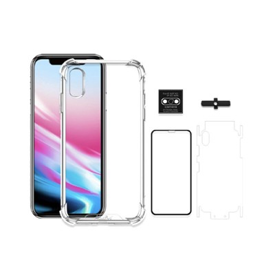 Heavy Duty Case with Soft TPU Bumper for iPhone, Full Protective Clear Phone Case