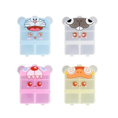 Cartoon Pill Box for Girls Cute Vitamin Storage Supplement Case