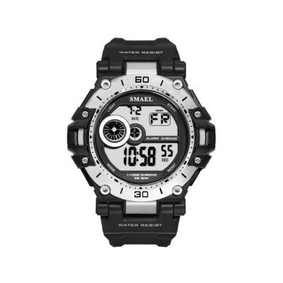 Men's Shockproof Sport Watch with Resin Strap, Digital Waterproof Watch for Outdoor Use