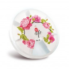 Cute Weekly Pill Organizer With Flower Print, Clear 7-Sided Pill Case For Traveling, Household Use
