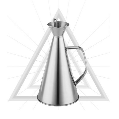 Stainless-steel Oil Can, Soy Sauce Bottle with Long Leak-proof Spout