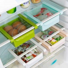 Slide Design Refrigerator Food Crisper, Commodity Shelf, Drawer Type PP Storage Box