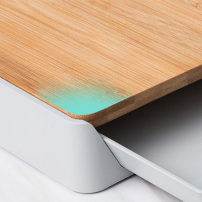 Pull-down Cutting Board, with Drawer Design, Food Grade ABS and Bamboo Material, Multifunctional Storage Board