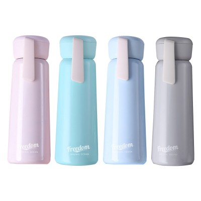 Stainless Steel Thermos Water Bottle Vacuum Insulation Cup, Suitable for Female Students, with Portable Rope