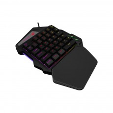 One-Handed Gaming Keyboard, K13 Wired 35 Keys LED Backlit USB Ergonomic Single Hand Keypad