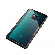 Huawei mate 20 Case with Soft TPU and Toughened Glass, Scratch-resistant and Explosion-proof, Huawei mate 20 Pro Glass Phone Case
