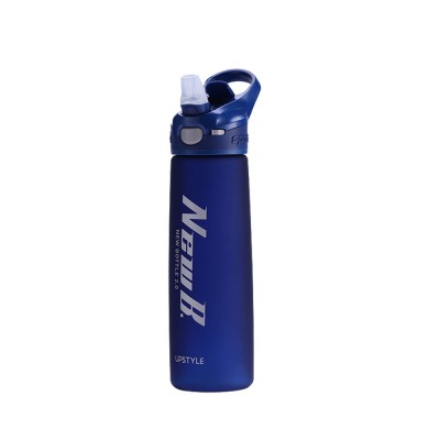 Water Bottle With Straw and Handle, Plastic Sport Water Bottle for Man Woman, 600ml, 750ml
