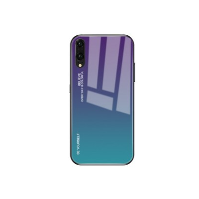 Gradient Phone Case for Huawei Nova 4, P20 Pro, P20 Lite, Explosion-proof and Scratch-resistant Case Cover with Toughened Glass and High-quality TPU