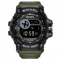 Men's Digital Sports Watch, with Resin, Polymethyl Methacrylate, Quartz, Electronic Movement
