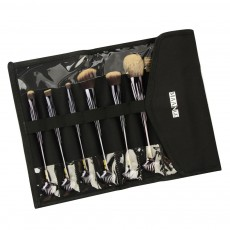 Shell Makeup Brush Set 10 Pieces, Make Up Foundation Eyebrow Eyeliner Blush Cosmetic Concealer Brushes with Nylon Crease Kit