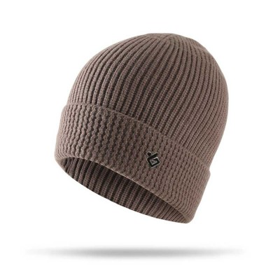 Ultra-soft Warm Thicken Angora Men Beanie, Minimalist Double-layers Winter Autumn Knitted Cap Hat