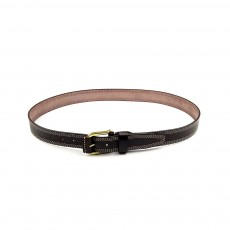 Luxury Minimalist Fashion Mens Leather Buckle Belt with Paint Edge, Soft Smooth First Leather Layer Casual Dress Waistband for Men