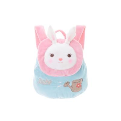 Large Capacity Smooth Short Plush Rabbit Rucksack Birthday Present Bags Cute Tiramitu Little Backpack for 1-3 Years Old Children