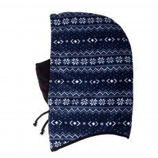 Stylish Snowflake Pattern Outdoors Beanie with Face Mark, Warm Soft Polyester Waterproof Knitted Hat for Men Women