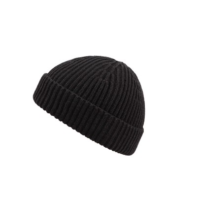 Minimalist Fashion Men Warm Knitted Wool Beanie, Winter Autumn Ultra-soft Elastic Acrylic Hat Cap for Men