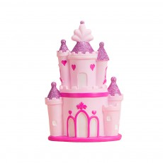 Creative Princess Castle Money Box for Girls, Delicate Elegant Pink Fairytale Castle Birthday Present Piggy Bank