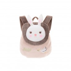 Cute Tiramitu Little Backpack for 1-3 Years Old Children, Large Capacity Smooth Short Plush Rabbit Rucksack Birthday Present for Boys Girls