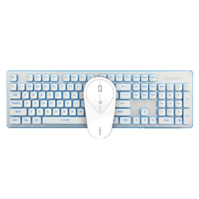 LT600 Gaming Keyboard & Mouse Set, Charging LED Mute Wireless Waterproof Keyboard Mouse Set for Laptop & Desktop & MAC & WIND OWS