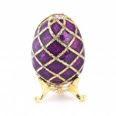 Painting Egg Jewelry Box Creativity Metal Handiwork Gold Plated Diamond Encrusted Decoration Easter Egg