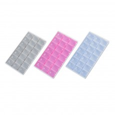 Mens Large Capacity Pill Box, 14/21/28 Squares 7 Days Organizer Box Tablet Pill Sorter for Household Portable Container