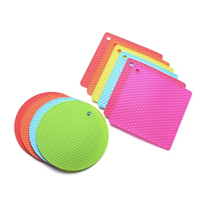 Insulation Mat Honeycomb Silicone Material Elastic for Hot Vessels Pad Anti-slip Table Holder