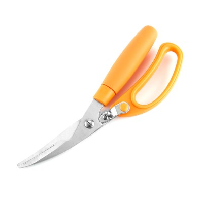 Stainless Steel Cutter Tooth Design Sharp Scissor for Cut Hard Food Kitchen Tool Anti-slip Shear