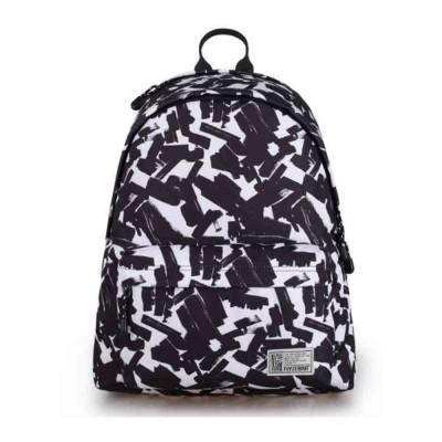Unisex Black-white Backpack for Travel, Fashionable School Backpack for 14 inch Laptop