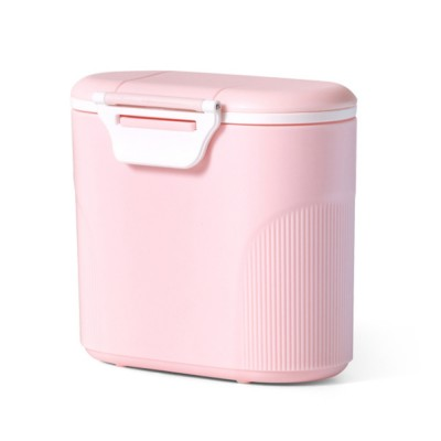Double Covers Portable Milk Powder Box, Large Capacity Snack Box PP Material Feeding Container Dispenser