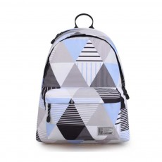 Geometric Figure Backpack for Students, Fashionable Large Capacity Casual Bag with Superior Zipper, Compatible with 10~14 inch Laptop