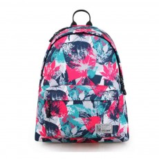 Fashion Leaves Printed Backpack with Stainless Steel Zipper, Large Capacity Casual School Backpack for Students, Teenage