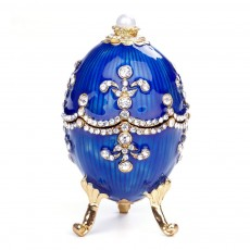 Russian Easter Egg Metal Handicraft Creative Decoration European Business Gifts Ornaments Jewelry Box