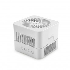 USB Rechargeable Fan Portable Air Conditioning Refrigeration Desktop Student Dormitory Intelligence Small Fan for Household