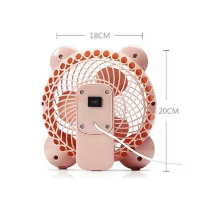 Mute Mini Fan Power Supply USB Rechargeable Portable Desktop Student Dormitory for Office Class Bedroom Cooling Electric Fan