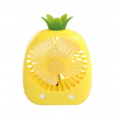 Mini Fan Rechargeable Portable Hand-held Cooling Pineapple Cartoon USB Battery Powered Fan Quiet for Student
